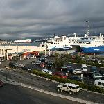 View from the balcony over the new port