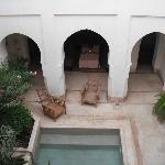 The internal courtyard