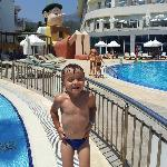 Gio at the pool