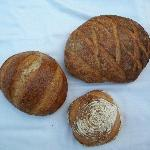 Just three of about twenty different kind of fresh and delicious bread!