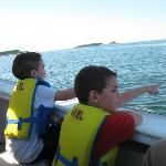 Grandsons loved boat tour with Capt. Walt!