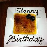 "The White Chocolate Creme Brûlée (my ""birthday cake"")"