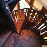 Spiral staircase to 2nd floor