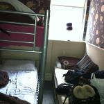 this was our room between three people...- another 2 beds on other side of wall!!!! 5 ppl sharin