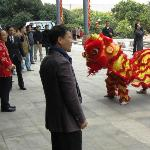 Start of the Chinese New Year with a Traditional Lion Dance