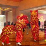 Lion Dance at the Lobby at Chinese New Year