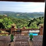  The most wonderful view of Tuscany from our balcony!