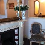  fireplace in room 13