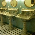 The fabulous old cloakroom basins