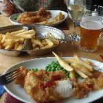 Fish and chips and peas - that's it.