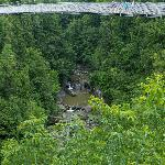  The Suspension Bridge over the Coaticook River Gorge.