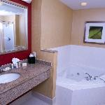 two person jetted tub in a couple of our suites