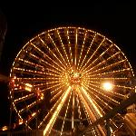 The Skywheel at night