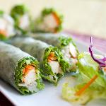 Fresh Vegetarian Salad Rolls