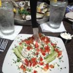  Wedge Salad with Oysters in back ground