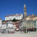 Main square, Piran (Val Hostel is 5 minutes' walk to left)