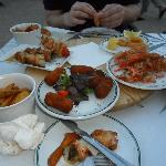  Tapas in Chillax, kebabs, giant prawns,calamari, fritters!!