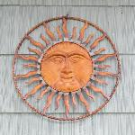  There&#39;s no sign, so watch for the sunshine symbol next to the door