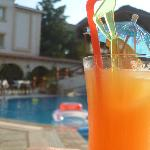  A tequila sunrise by the pool