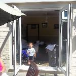  Double doors from room onto patio - great for the bambino x