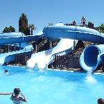A great pool and slides!