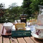 Afternoon tea in the house gardens!