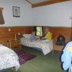  One of the upper bedrooms - note the pillow level window!