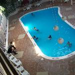  Inside pools from our room.
