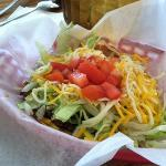 the shredded beef taco that went with the enchilada meal! very yummy!