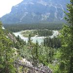 Tunnel mtn drive view of the Bow River and Mt Rutledge