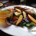 Peach salad with chicken