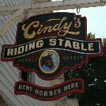 Look for this sign- the stables are one street behind and parallel to the main street