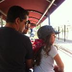  My daughter and her uncle riding the rails.