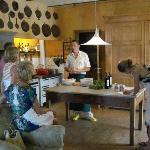  At the cooking school in the farm house kitchen