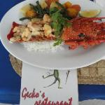 Gecko menu and lobster