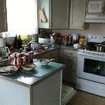  A view of the kitchen at 7am. Care to have breakfast?