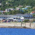 View of motel from pier
