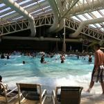 the indoor wave pool, you can get a tan in here!! it's warm and super cool! it's nice:)