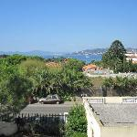 View toward Juan les Pins and Cannes