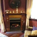 The cosy lounge with open fire
