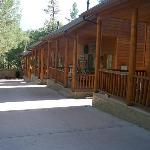 Front of the 2 bedroom cabins
