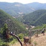  veduta della val nerina da fuori dell&#39;app.to