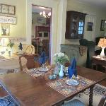 There are two dining rooms with large living room area.