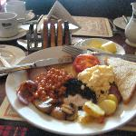 Classic Scottish Breakfast at the hotel