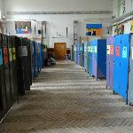  The main hallway of lockers