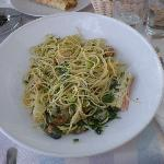  Seafood spaghetti @ Crepe Academy Kamari Santorini !