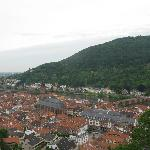 View of Heidelberg from the Schloss, hotel is near cathedral