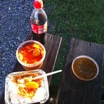 "Take Away ""Rotes Curry, Huhn, Ananas"""