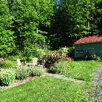  Partial view of gardens at side of Weathertop Mountain Inn, Waitsfield, VT