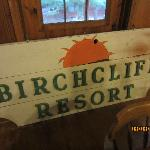 Old Birchliff sign up on the game room.